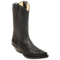 Chaussures Homme Bottes ville Sendra boots Santiags cuir ref_sen34033-noir noir