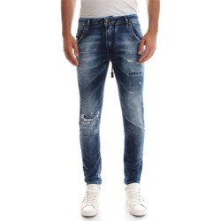 Vêtements Homme Jeans boyfriend Diesel KROOLEY CB-NE SWEAT JEANS JEANS Homme DENIM MEDIUM BLUE DENIM MEDIUM BLUE