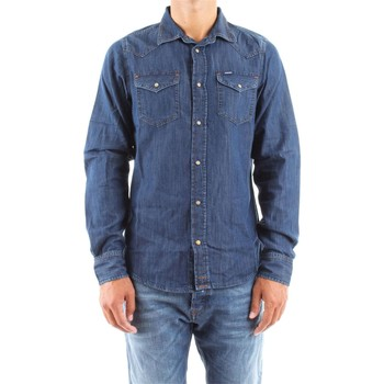 Vêtements Homme Chemises manches longues Diesel 00SD24 0CAKS NEW SONORA CHEMISE Homme DENIM MEDIUM BLUE DENIM MEDIUM BLUE