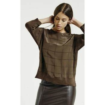 Vêtements Femme T-shirts manches longues Max & Moi Pull NECTARINE Femme Collection Automne Hiver Marron