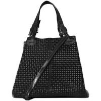 Sacs Femme Sacs porté épaule Oh My Bag Sac à Main femme en cuir tressé - Modèle Mallarmé noir NOIR