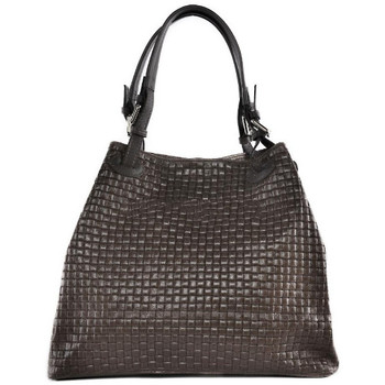 Sacs Femme Sacs porté épaule Oh My Bag Sac à Main femme en cuir tressé - Modèle Mallarmé marron foncé MARRON FONCE