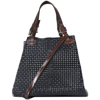 Sacs Femme Sacs porté épaule Oh My Bag Sac à Main femme en cuir tressé - Modèle Mallarmé bleu foncé BLEU FONCE