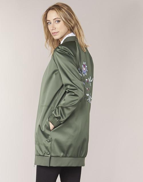 Vêtements Femme Blousons Tommy Hilfiger MABEL-LONG-BOMBER Kaki