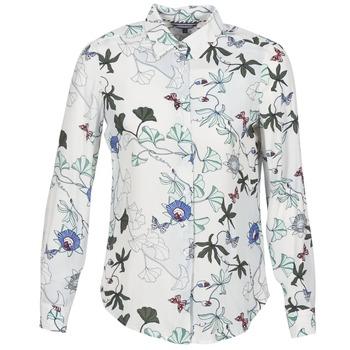 Vêtements Femme Chemises / Chemisiers Tommy Hilfiger MIRAN-SHIRT-LS Blanc