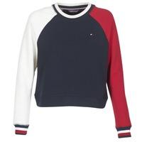 Vêtements Femme Sweats Tommy Hilfiger APRIL-ROUND-NK-SWEATSHIRT Bleu / Blanc / Rouge