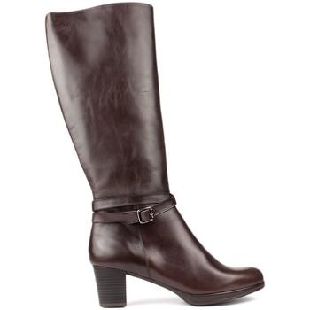 Chaussures Femme Bottes Kroc BOTTES  HAUTE CUIR BROWN