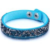 Montres & Bijoux Femme Bracelets Blue Pearls Bracelet Cristaux Turquoises et Argentés de Swarovski Elements e Multicolore