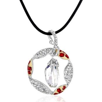 Montres & Bijoux Femme Colliers / Sautoirs Blue Pearls Pendentif Cristal Swarovski Elements et Plaqué Rhodium Multicolore