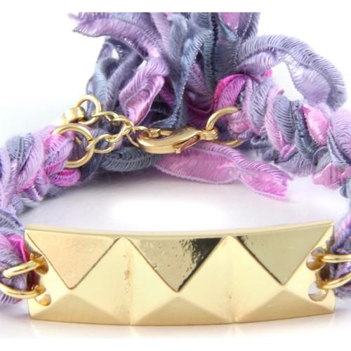 Etk Femme 0122 Blue Pearls Bracelets Violet eED92WIHYb