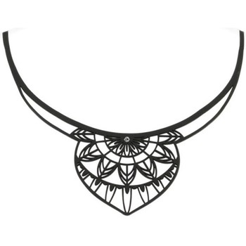 Montres & Bijoux Femme Colliers / Sautoirs Blue Pearls Collier India en Silicone Noir effet Tatouage Autres