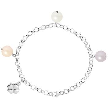 Montres & Bijoux Femme Bracelets Blue Pearls Bracelet Trèfle Perle de culture d'eau douce Blanche, Peche et L Multicolore