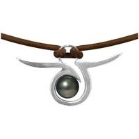 Montres & Bijoux Femme Colliers / Sautoirs Blue Pearls BPS K266 W Argenté