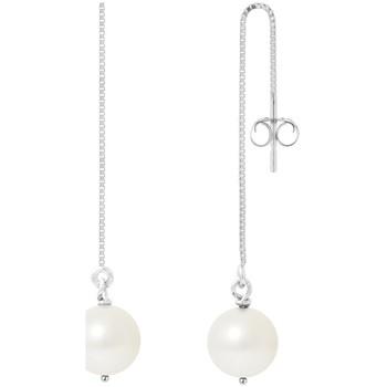 Montres & Bijoux Femme Boucles d'oreilles Blue Pearls Boucles d'Oreilles Pendantes en Argent et Perles de culture blan Multicolore
