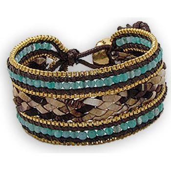 Montres & Bijoux Femme Bracelets Blue Pearls NUB 3127 E Autres