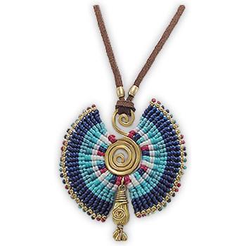 Montres & Bijoux Femme Colliers / Sautoirs Blue Pearls NUB 3218 E Multicolore