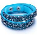 Blue Pearls Bracelet Cristaux Turquoises et Argentés de Swarovski Elements e