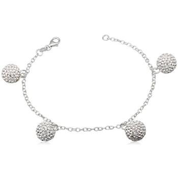 Montres & Bijoux Femme Bracelets Blue Pearls Bracelet Perles en Cristal Blanc et Argent 925 Multicolore