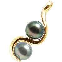 Montres & Bijoux Femme Pendentifs Blue Pearls Pendentif 2 Perles de Tahiti et Or Jaune 375/1000 Doré