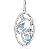 Montres & Bijoux Femme Pendentifs Blue Pearls CRY J252 X Multicolore