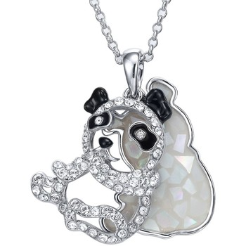 Montres & Bijoux Femme Pendentifs Blue Pearls Pendentif Panda Abalone et Cristal Swarovski Elements Blanc Blanc
