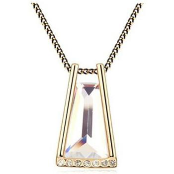Montres & Bijoux Femme Colliers / Sautoirs Blue Pearls Collier Cristal de Swarovski Element Blanc Multicolore