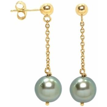 Montres & Bijoux Femme Boucles d'oreilles Blue Pearls BPS K351 W Doré