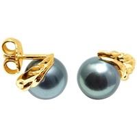 Montres & Bijoux Femme Boucles d'oreilles Blue Pearls BPS K353 W Doré