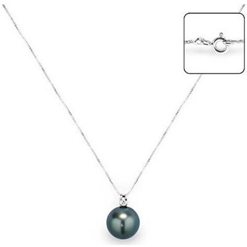 W Femme K018 Blue ColliersSautoirs Blanc Bps Pearls WBdCxore