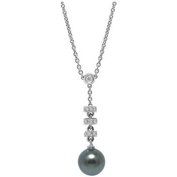 Montres & Bijoux Femme Colliers / Sautoirs Blue Pearls Collier en Or Blanc massif 750/1000, Diamants et Perle de de Tah Multicolore