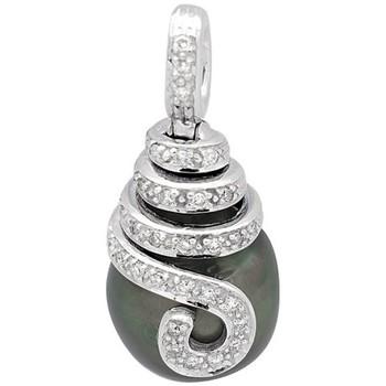 Montres & Bijoux Femme Pendentifs Blue Pearls Pendentif Diamants, Perle de Tahiti et Or Blanc 750/1000 Multicolore