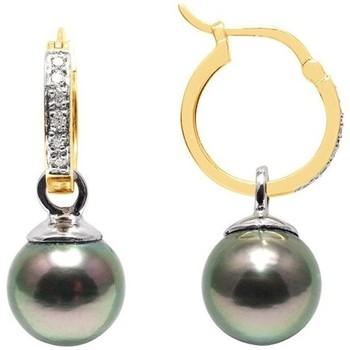 Montres & Bijoux Femme Boucles d'oreilles Blue Pearls BPS K356 W Doré