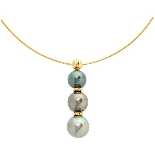 W Femme ColliersSautoirs Bps Nacré K002 Pearls Blue 2DWEIH9