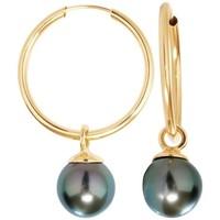 Montres & Bijoux Femme Boucles d'oreilles Blue Pearls BPS K358 W Doré