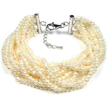 Montres & Bijoux Femme Bracelets Blue Pearls Bracelet Femme Multi Rangs en Perles de culture d'eau douce Blan Multicolore