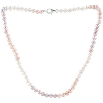 Montres & Bijoux Femme Colliers / Sautoirs Blue Pearls Collier Enfant en Perles de culture Multicolores et Argent 925 Multicolore