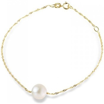 Montres & Bijoux Femme Bracelets Blue Pearls Bracelet Perle de culture Blanche en Or Jaune 375/1000 Multicolore