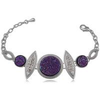 Montres & Bijoux Femme Bracelets Blue Pearls CRY 8137 T Violet