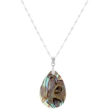 Montres & Bijoux Femme Pendentifs Blue Pearls Pendentif Femme Abalone ovale et Argent 925/1000 Multicolore