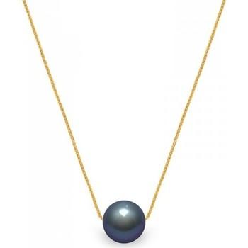 Montres & Bijoux Femme Colliers / Sautoirs Blue Pearls Collier Femme Ras du Cou et Chaine Venitienne Or jaune 750/1000 Multicolore