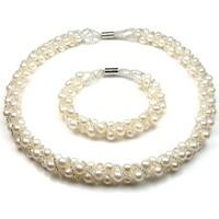 Montres & Bijoux Femme Parures Blue Pearls BPS 0139 Y Blanc