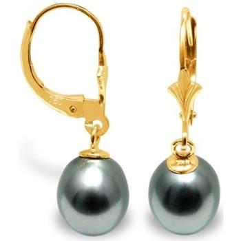 Montres & Bijoux Femme Boucles d'oreilles Blue Pearls BPS K335 W Doré