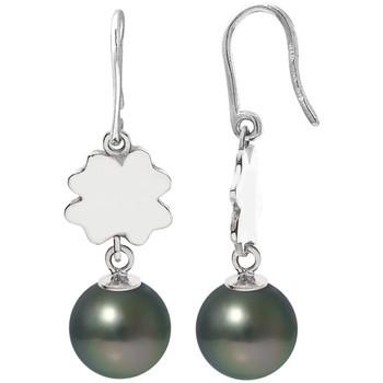Montres & Bijoux Femme Boucles d'oreilles Blue Pearls Boucles d'Oreilles Trèfle Pendantes Perles de Tahiti et Argent 9 Multicolore