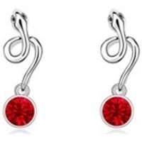 Montres & Bijoux Femme Boucles d'oreilles Blue Pearls Boucles d'oreilles Serpent en Cristal de Swarovski Element Rouge Multicolore