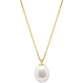 Montres & Bijoux Femme Colliers / Sautoirs Blue Pearls Collier en Or Jaune 375/1000 et Perle de Culture Blanche Multicolore