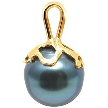 Montres & Bijoux Femme Pendentifs Blue Pearls Pendentif Perle de Tahiti Cerclée et Or Jaune 375/1000 Doré