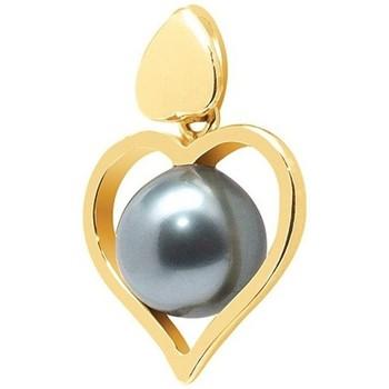 Montres & Bijoux Femme Pendentifs Blue Pearls Pendentif C?ur Perle de Tahiti et Or Jaune 750/1000 Doré