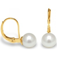 Montres & Bijoux Femme Boucles d'oreilles Blue Pearls Boucles d'Oreilles Perles de Culture Blanche et or jaune 375/100 Multicolore