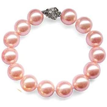 Montres & Bijoux Femme Bracelets Blue Pearls Bracelet en Perles rose et fermoir fleur en Argent 925 Multicolore