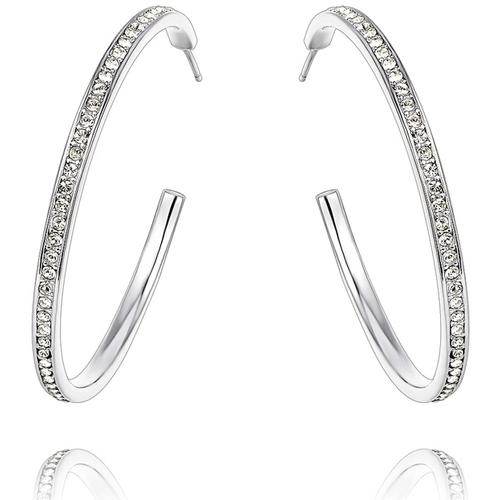 Montres & Bijoux Femme Boucles d'oreilles Blue Pearls CRY B341 W Blanc